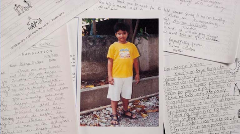 Late President George H.W. Bush secretly sponsored  and corresponded with a Filipino boy for 10 years