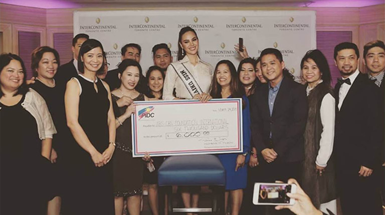 Photo Release: PIDC fundraiser with Miss Universe 2018 Catriona Gray generates Can$6k donation  for ABS-CBN Foundation International's Bantay Bata program